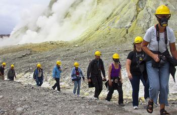 Tragikus vulkánkitörés a White-szigeten
