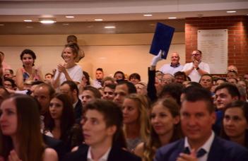 Moments of the international graduation ceremonies